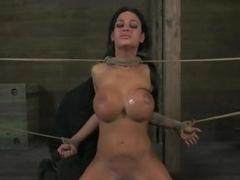 Bound babe Angelina Valentine gets tortured