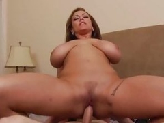 Busty Eva Notty bounces her pussy on this hard dick