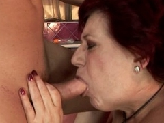 Hetty puts a young cock over her knees added to spanks it get pleasure from a grandma ought to