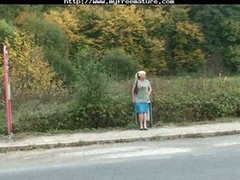 Dude picks up and bangs lonely granny