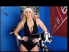 Julia Ann is a hyper fitness freak putting jointly an edgy workout DVD. That Babe has not quite anything this honey needs: gorgeous bouncing love muffins, an astounding firm body, a vigorous routine, but still lacks a certain `je ne-sais-quoi` to make it complete. One Time this honey spots Tony Ribas in the gym, this honey comes up with a fresh idea for the DVD that all sexually active hotties can have a joy by putting her mambos into action and sweating herself into a hawt frenzy!