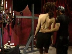 Busty Submissive Female Acquires Tied Up and Whipped By Sadistic S&m Master