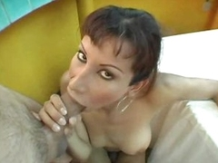 Transsexual and her guy do bareback fucking