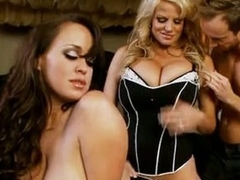 BrAndy Taylor and Kelly Madison fuck hard with one knob